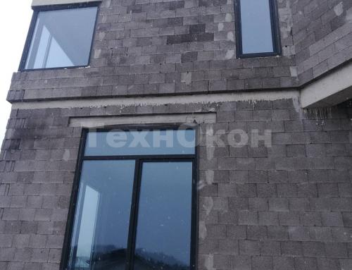 Остекление пластиковыми окнами Veka Spectral Grafit